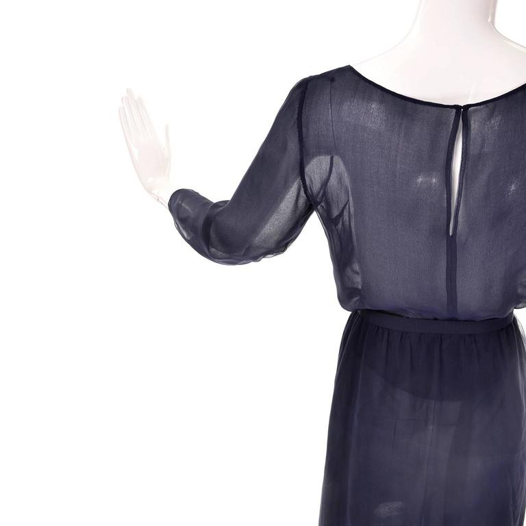 Sheer vintage Christian Dior Haute Couture vintage 2 piece dress