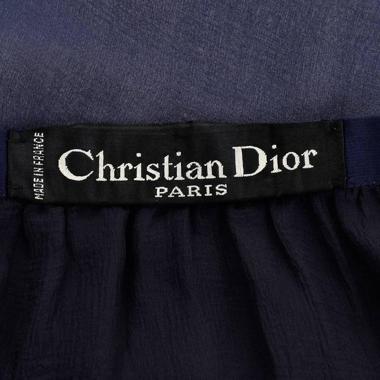 Sheer Christian Dior Haute Couture vintage label