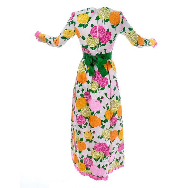 60's Couture Christian Dior Floral Dress