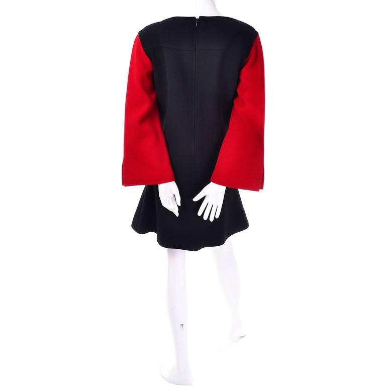Christian Lacroix vintage wool dress with color block