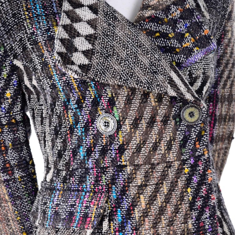 Pattern Mixing vintage skirt suit by Christian Lacroix