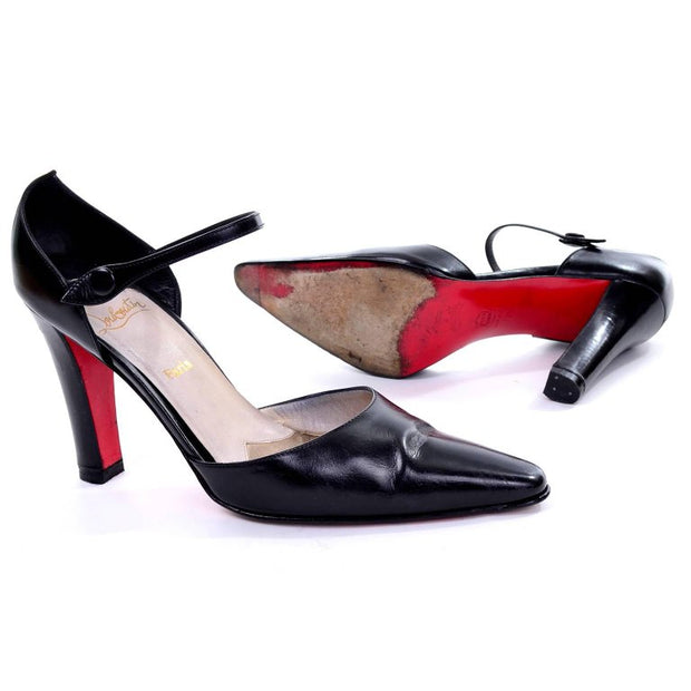 Vintage Christian Louboutin Black Pumps with Red Sole