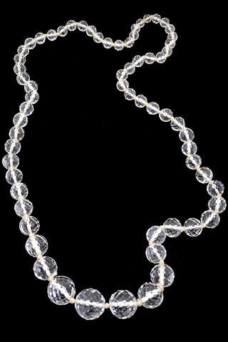 Multi Faceted Vintage Crystal Bead Necklace Deadstock