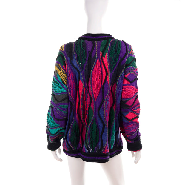 Coogi Colorful patchwork sweater Notorious BIG
