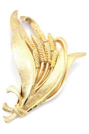 Gold Wheat Coro Vintage Brooch
