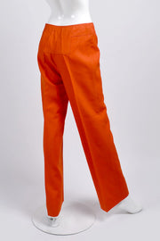 Courreges Orange Pants Back