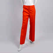 Courreges Orange Wool Pants Vintage Trousers