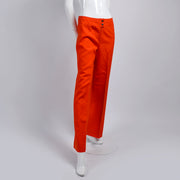 Wool Courreges Orange Pants Vintage Trousers