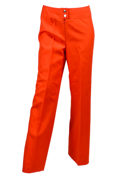 Courreges Orange Pants Vintage Trousers
