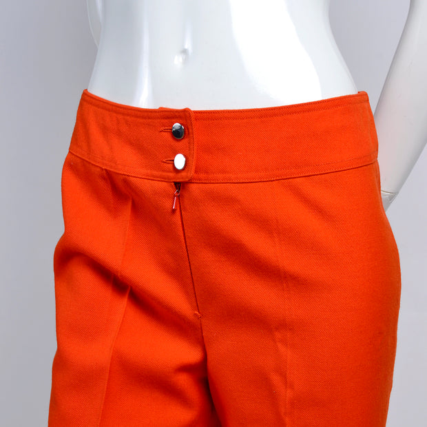 Vintage Courreges Orange Pants Trousers
