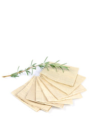 Cream Raw Silk Cocktail Napkins Set of 8