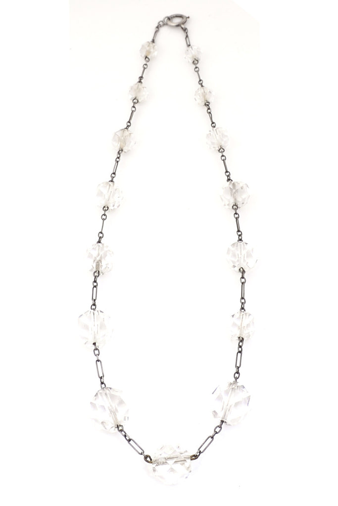 1930s crystal necklace vintage