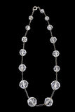 Vintage 30s Crystal necklace silver chain