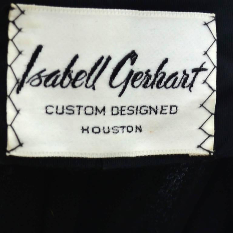 Isabell Gerhart Custom Designed Houston Vintage Dress Label