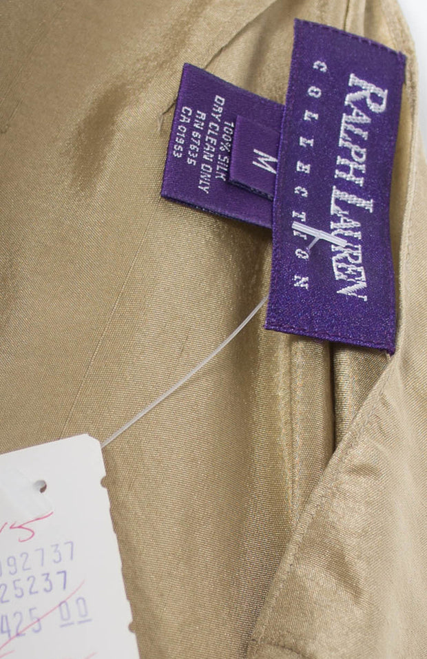 NEW vintage Ralph Lauren Collection purple label silk toga dress with original tags - Dressing Vintage
