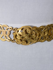 Vintage belt Artisan Handcraft 1950s Art nouveau style brass necklace - Dressing Vintage
