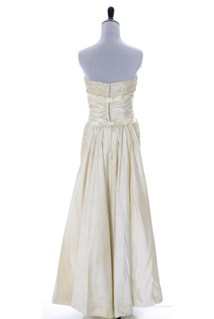 Vintage Emma Domb dress strapless evening gown