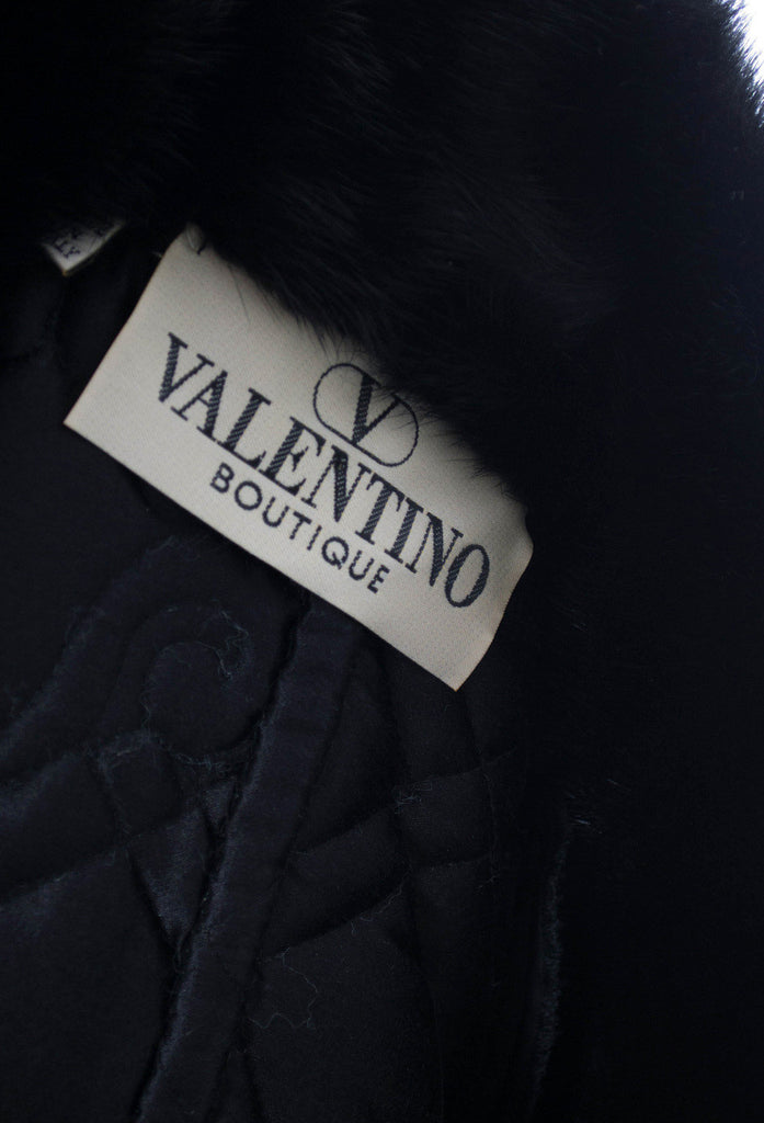 Vintage Valentino velvet coat with fur collar