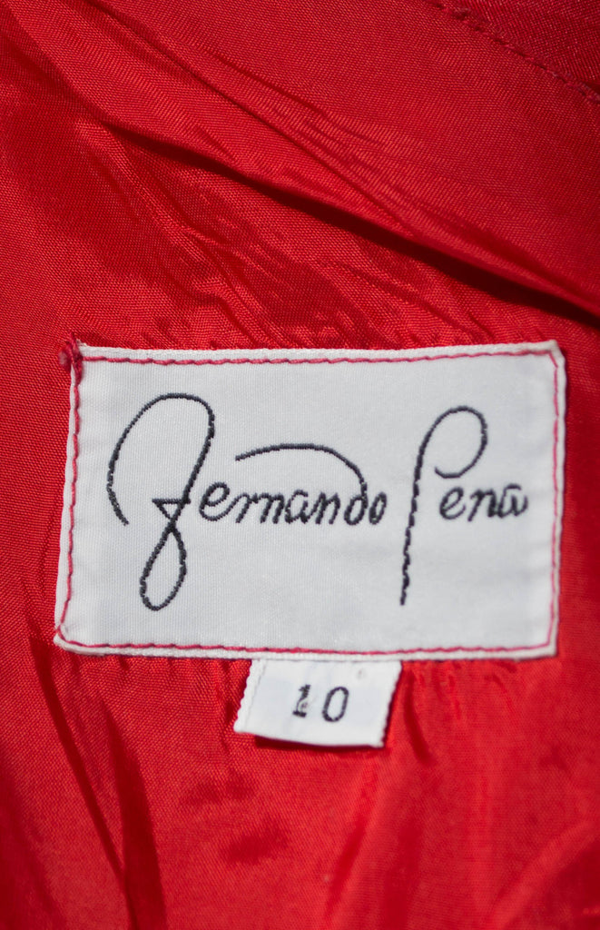Fernando Pena vintage dress red
