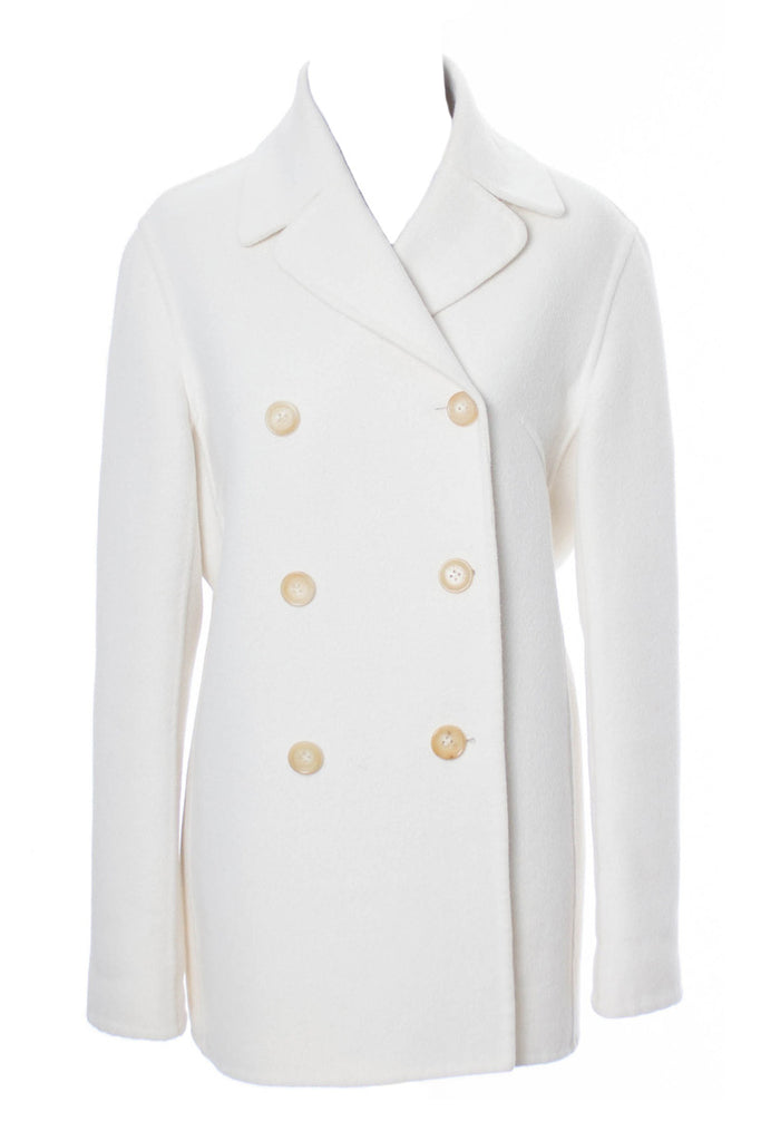 Vintage White Wool Celine Coat Medium
