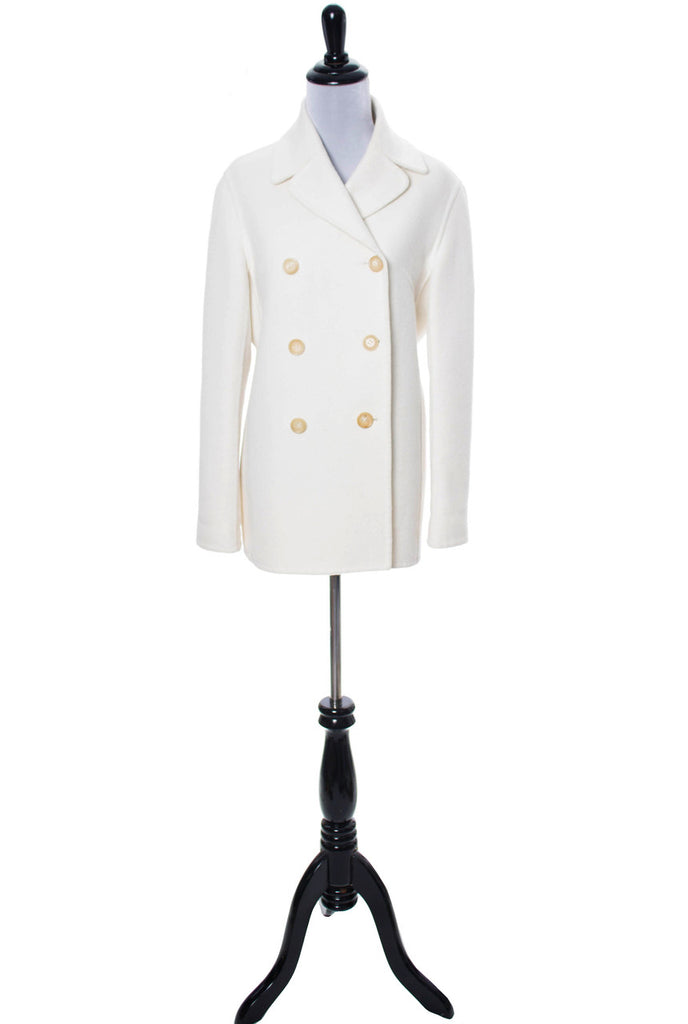 White wool Celine Coat