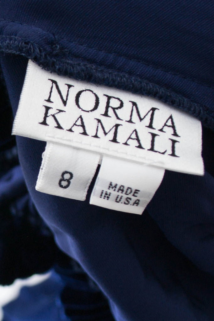 Norma Kamali vintage blue dress