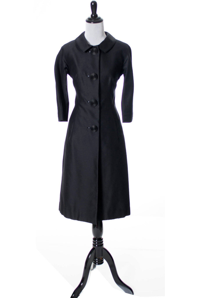 Nicholas Ungar vintage 1960s silk wool coat dress