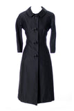 Black Nicholas Ungar 1960s wool silk dress