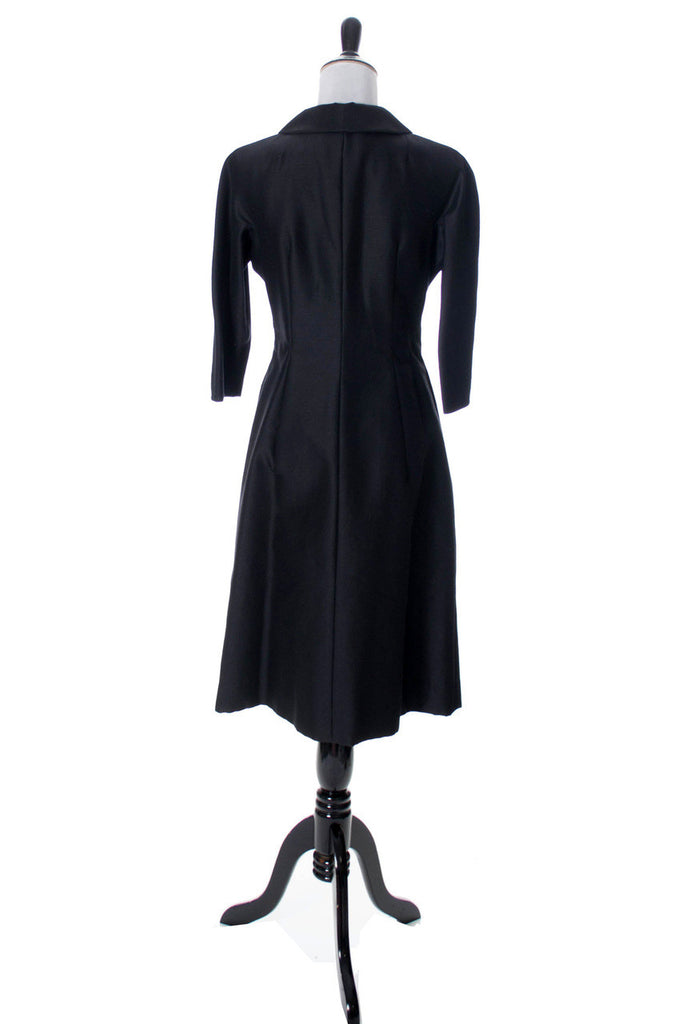 1960s vintage black Nicholas Ungar coat dress