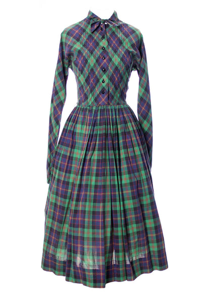 Rare Claire McCardell Little Traveler Townley vintage plaid dress - Dressing Vintage