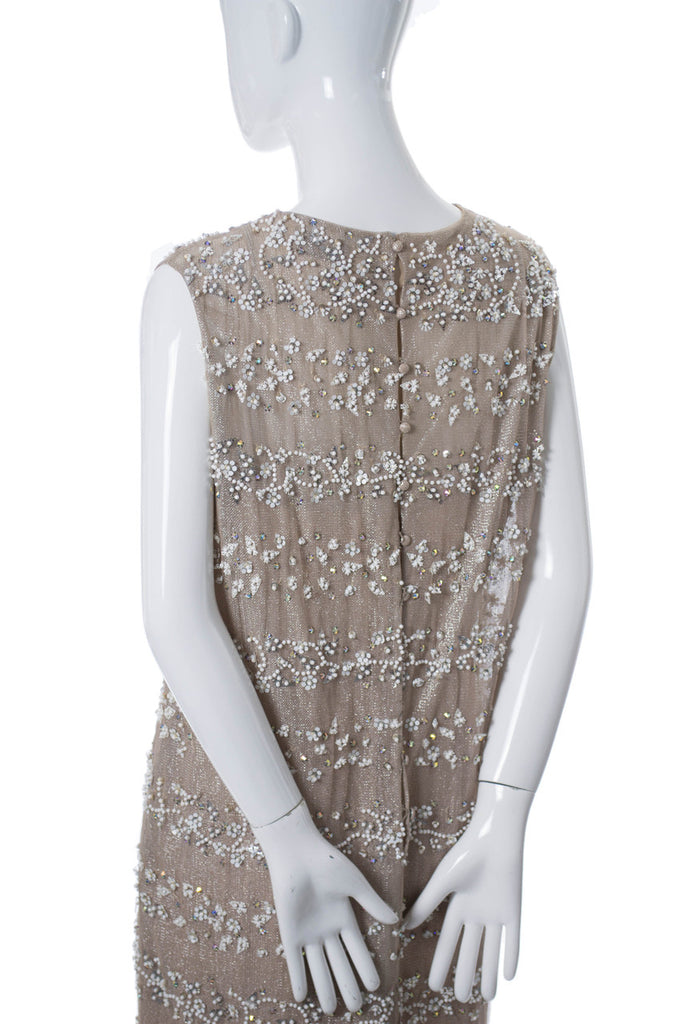 Malcolm Starr vintage 1960s beaded shimmer dress - Dressing Vintage
