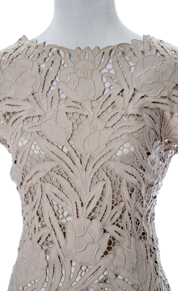 Cutwork lace vintage dress