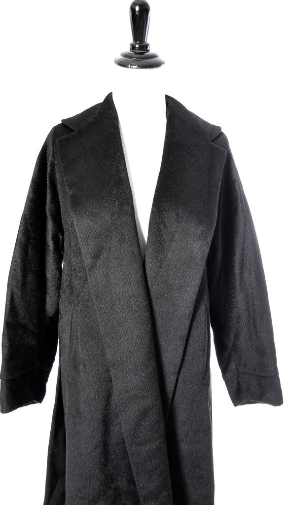 Vintage 1950's black mohair coat