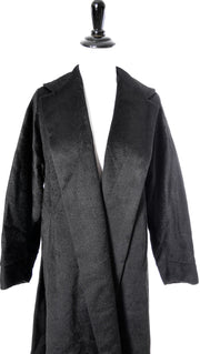 1950's Vintage Black Mohair Coat with Shawl Collar - Dressing Vintage