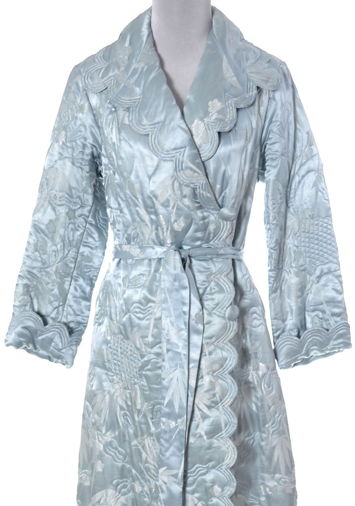blue silk vintage robe 1930s