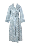 1930's Blue Silk Quilted Vintage Hostess Robe