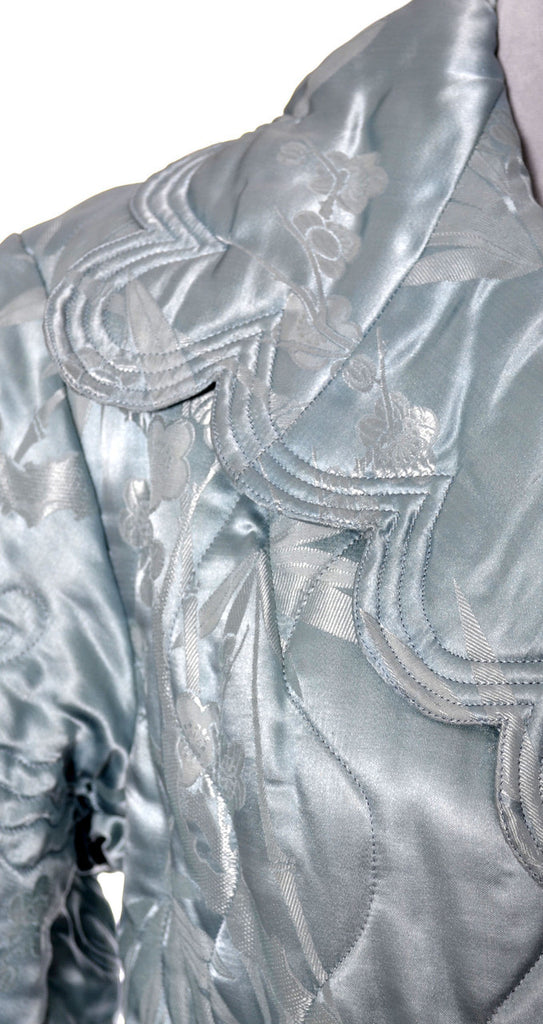 vintage 1930s blue silk robe