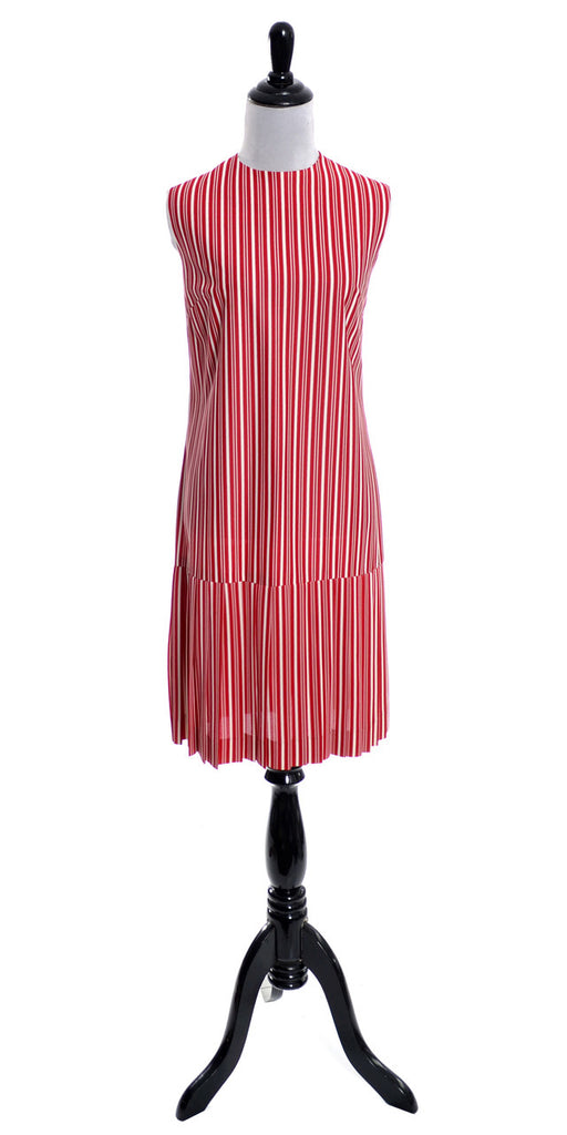 L'Aiglon vintage dress red stripes 1970s