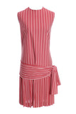 L'Aiglon Originals red and white striped 1920s style dress