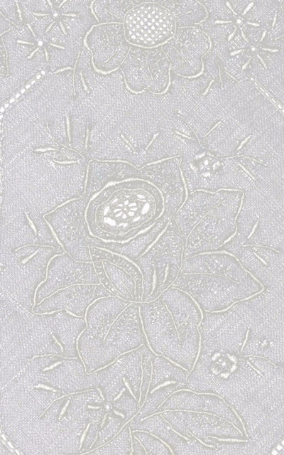 Bridal Wedding Handkerchief Vintage Embroidered Roses - Dressing Vintage