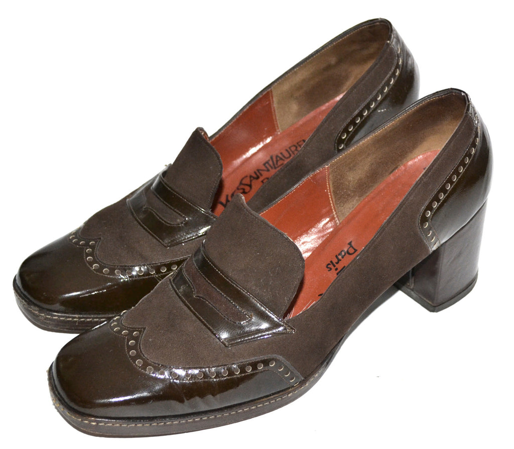 1970s vintage YSL loafers shoes