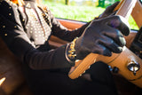 Claude Montana Black and Gold Vintage Gloves from DressingVintage.com