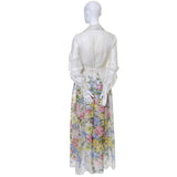 Dalani Vintage Dress Organza Floral 1970s As New