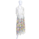 Dalani Vintage Dress Organza Floral 1970s Excellent