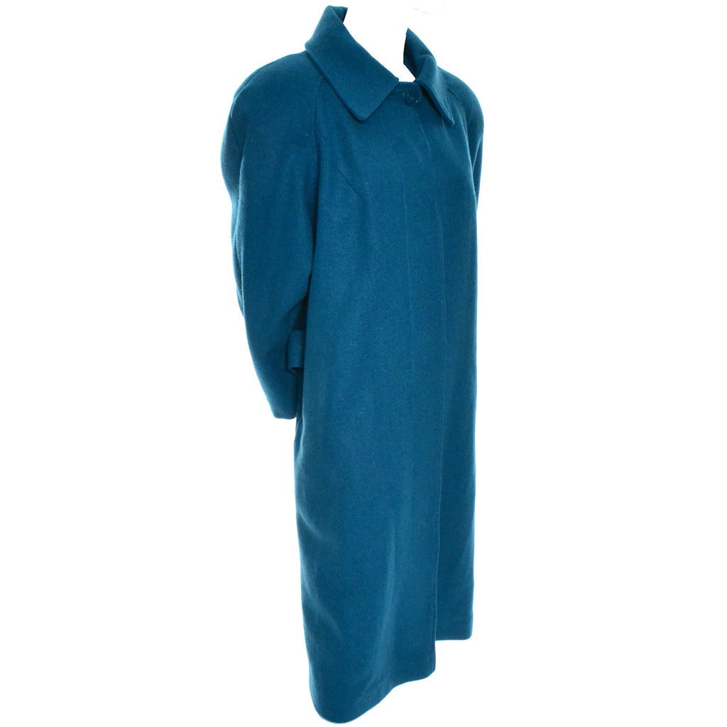 Turquoise Wool Vintage Coat Dead Stock New With Tags