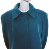 Turquoise Wool Vintage Dead Stock New Coat