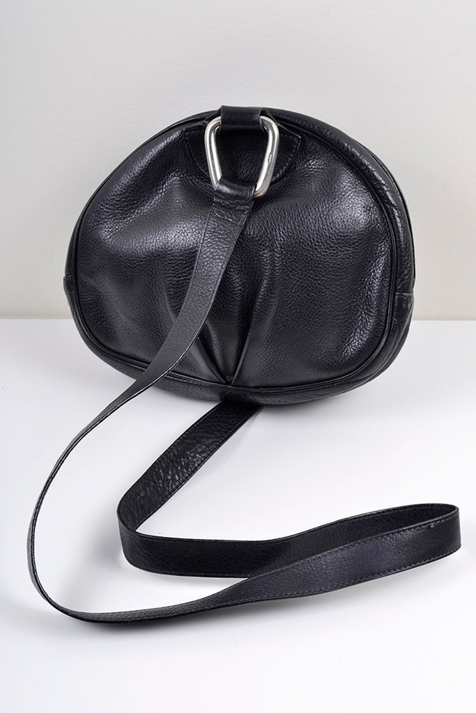 Desmos pleated leather 1980's handbag