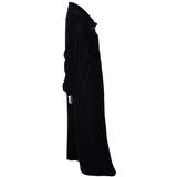 Donna Karan Black Label Vintage Plush Robe Zip Front