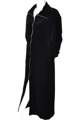 Natori Vintage 2 Piece Black dot Negligee Peignoir Nightgown and Robe