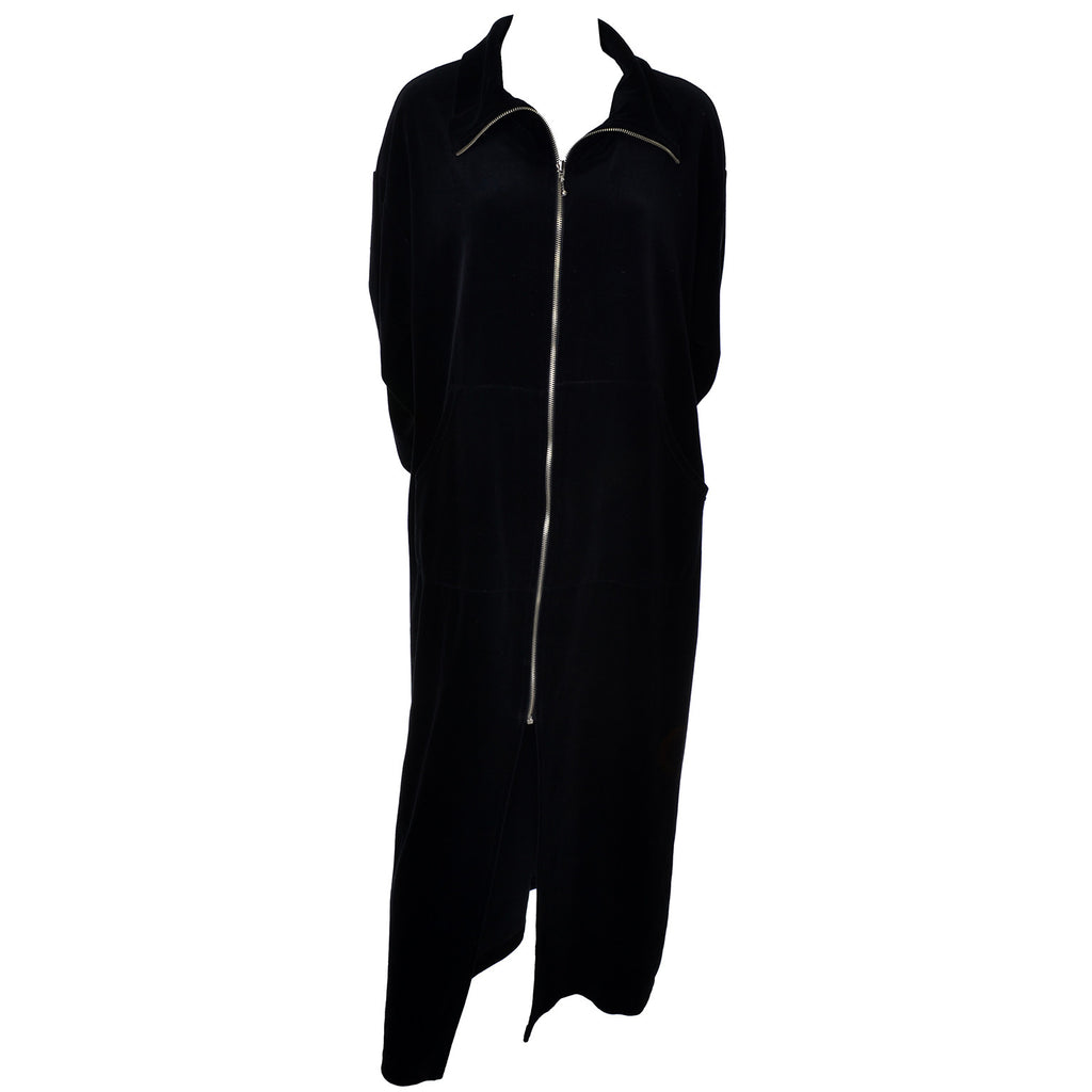 Zip Front Donna Karan Black Label Vintage Plush Robe